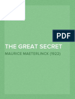 The Great Secret - Maurice Maeterlinck (1922)