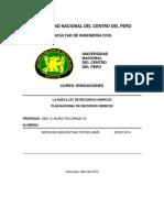 Trabajo 01-Plan de Recursos Hidricos