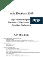 India Elections 2009 Manifesto Analysis