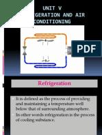 3-Unit - V - Refrigeration & Air Conditioning