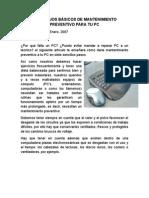 7 CONSEJOS BÁSICOS DE MANTENIMIENTO PREVENTIVO PARA TU PC