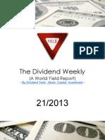 Dividend Weekly 21_2013