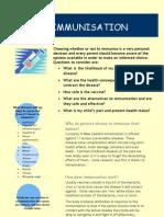immunisation handout