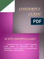 Prezentare muzică - Concertul clasic