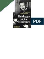 Heidegger Et Les Modernes Luc Ferry Alain Renaut