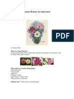 How to paint cosmos flowers in watercolor.doc