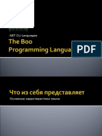 Boo Programming Language