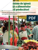 Condiţii minime de igienă şi siguranţă a alimentelor pentru micii producători