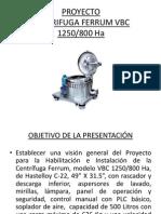 Presentación Proyecto Centrífugas