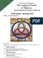 Pew Sheet 26 May 2013 Trinity