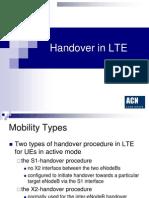 Handover in LTE