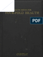 Health Hints for Four-Fold Health, Curtiss  (1938) Occult