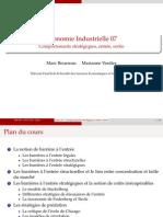 Economie industrielle entrées et sorties