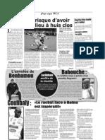 Khenniche , Bénié , Hadjadj , Badji et Younès absents