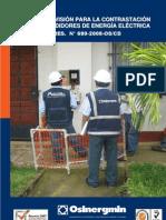 Procedimiento p supervisión de contrastacionde medidores de energía electrica