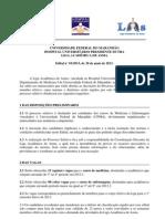 Edital LAAs Processo Seletivo 2013