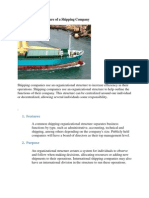 Organizational Structure of a Shipping Company