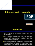 Introduction to Research 1