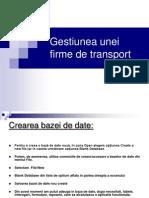 Gestiunea Unei Firme de Transport