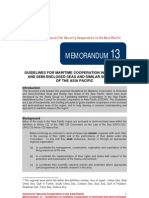 CCAP Memo No. 13 - Guidelines for Maritime Cooperation in Enclosed and Semi-Enclosed Seas and Similar Sea Areas of the Asia Pacific