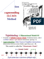 Introduction to the Tight binding (LCAO) Method