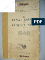 The Final Report of Project Seal (1950)