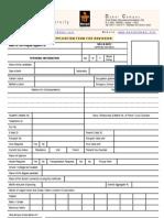 Manipal University, Dubai - Application Form