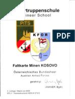 Pioniertruppenschule - Faltkarte Minen KOSOVO (Jul 2005)