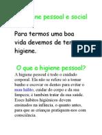 A Higiene Pessoal e Social