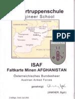 Pioniertruppenschule - ISAF, Faltkarte Minen AFGHANISTAN (ÖBH)(2005 Jun)
