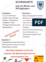 Taschenkarte Umgang mit Minen und Blindgängern (ÖBH)