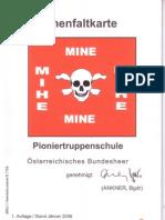 Pioniertruppenschule - Minenfaltkarte (ÖBH)(2006 Jan)