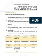 AUDITING (Attribute Sampling Untuk Pengujian Pengendalian)