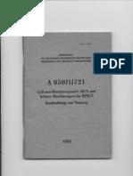 A 050-1-721 - 5,445-Mm-Maschinenpistole AK74 Und Leichtes Maschinengewehr PPK74 - Beschreibung Und Nutzung (1985,)