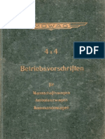 Betriebsvorschriften für Mowag 4x4 Mannschaftswagen, Amulanzwagen, Kommandowagen (1958 Jan)