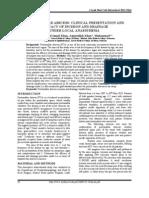 peritonsilar abcess