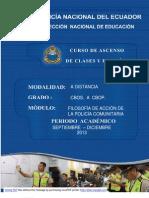Modulo Filosofia de La Policia Comunitaria