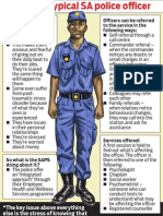 Profile of a typical SA police officer