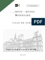 Compte Rendu Sommaire Des 20 Et 21 Juin 2011