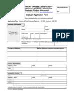 NCU Grad Application Form