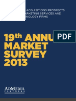2013 AdPartners Annual M&A Outlook / Media / Marketing Services / Related Technology Firms
