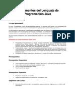 1- Fundamentos del Lenguaje de programación Java