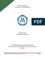 Panduan Praktikum Kdk II 201202