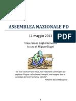 Assemblea Nazionale PD 11-05-13