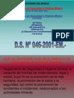 ModuloI Reglamento de Seguridad e Higiene Minera