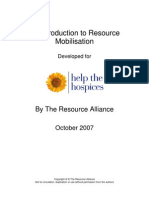 An Introduction to Resource Mobilisation
