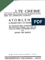 Okulte Chemie Leadbeater Besant
