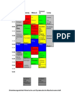 Stundenplan OE 2006