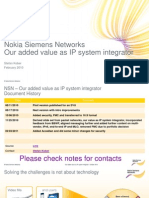 91820847 NSN as IP Solution Integrator Presentation for Customers