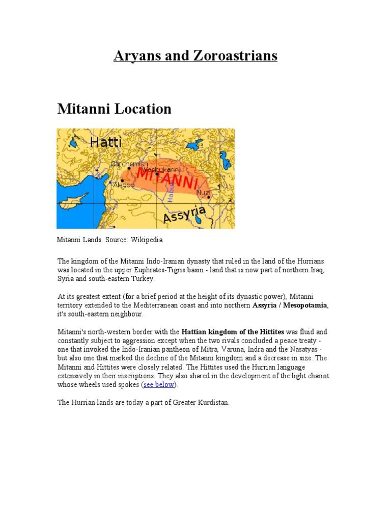 Aryans And Zoroastrians Hittites Zoroastrianism